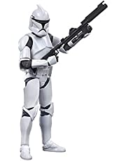 Star Wars The Black Series Phase I Clone Trooper Toy 6-Inch Scale Star Wars: The Clone Wars Collectible Action Figure, Kids Ages 4 and Up