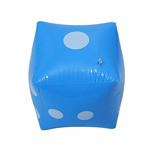 Jumbo Inflatable Dice Toy - Giant Yard Numeral Dice Lawn for Indoor & Outdoor Vegas Casino Style Decoration,Fun, Picnic, Free Floor Broad Games, Ludo,Pool Party Favor (Blue) for $<!--$4.99-->