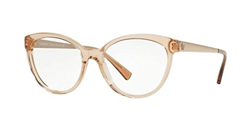 Versace Women's VE3237 Eyeglasses Transparent Brown 52mm by Versace