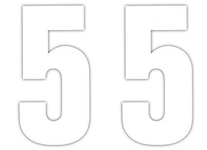 3 x 17.5cm White Vinyl Wheelie Bin House Number Stickers Wheely Dustbin Sticker