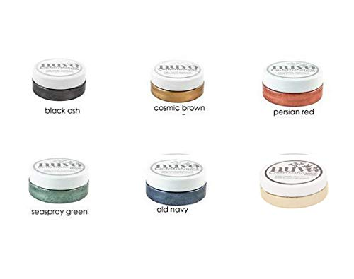 Nuvo Embellishment Mousse Bundle #1 - ''Vintage'' - 2.2 oz Each of Colors Black Ash, Cosmic Brown, Seaspray Green, Old Navy, Persian Red, and Toasted Almond