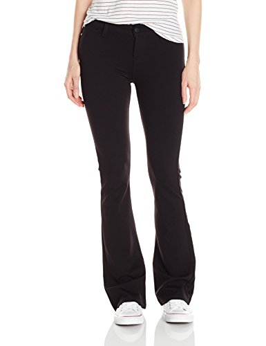 Celebrity Pink Jeans Women's Power Ponte Mid Rise Boot Cut, Black, 13