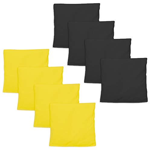 Weatherproof Duck Cloth Cornhole Bags - Set of 8 Bean Bags Corn Hole Game - Regulation Size & Weight - Made Corn-Shaped Synthetic Corn