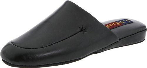 (L.B. Evans Men's Duke Scuff Black Leather Clog/Mule 10)