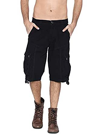 Fifty Two Black Cargo Short For Men