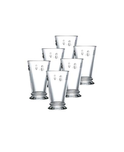 La Rochere Set Of 6, 11.5-ounce Napoleon Bee Double Old Fashioned Glasses (French Bee Glasses)