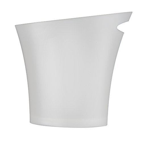 Umbra Skinny Sleek & Stylish Bathroom Trash, Small Garbage Can Wastebasket for Narrow Spaces at Home or Office, 2 Gallon Capacity, Metallic White