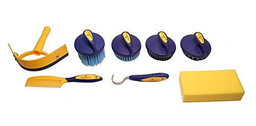 Derby Premium Comfort 9 Item Horse Grooming Kit (Purple/Pink) by Derby Originals (Image #2)