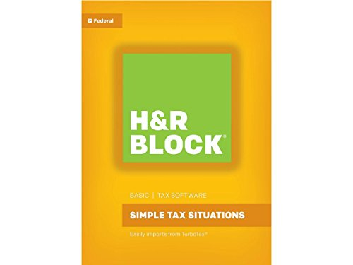 - HR Block(R) Basic 2017 Tax Software, For PC/Mac, Traditional Disc