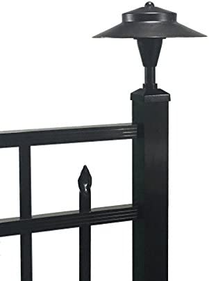 Tru-Post WL101A LED Post Light for a Deck or Fence Post Black, 2 x 2 Aluminum Post Cap