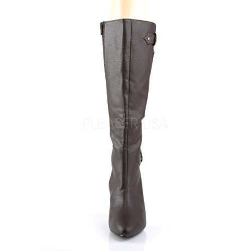 brown matte 2030 High Womens Pink Boots Knee Brown Label Pleaser High Size Dream Knee Big AzORx