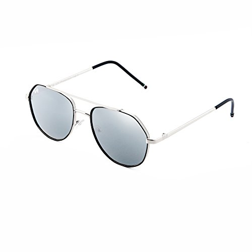 Gafas Plata TWIG de sol espejo TOLSTOJ hombre Plata mujer aviador 8EErqP
