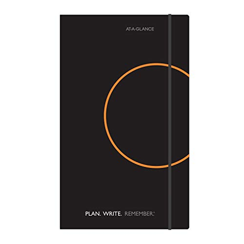 (AT-A-GLANCE Plan.Write.Remember. Perfect Bound Planning Notebook, Lined with Monthly Calendars, Undated, 5