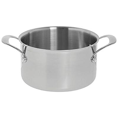 """HUBERT 4 qt Tri-Ply Stainless Steel Sauce Pot - 12""""L x 8""""W x 4 3/4""""H"""