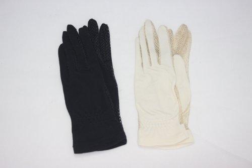 【女性用】UV手袋指付きショート 色おまかせ2枚セット