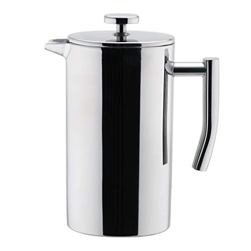 (MIRA 12 oz Stainless Steel French Press Coffee Maker | Double Walled Insulated Coffee & Tea Brewer Pot & Maker | Keeps Brewed Coffee or Tea Hot | 350 ml)