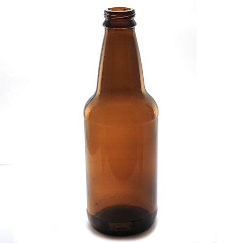 12 Bottle Label Oz (Maker Supply Empty Beer Bottles for Home Brewing (12 Case) 12 Ounce Amber Longneck Beer Bottles. Brown.)