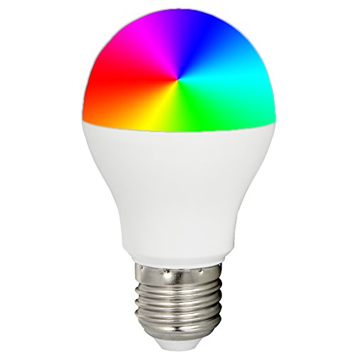 Mi.Light 6W E26 WiFi Led Light Bulb A19 RGB+Warm White+Cool White Color Changing,Temperature Adjustable,Dimmable,Memory Function.Remote,B4 B8 Wall Panel,iBox hub is Sold Separately