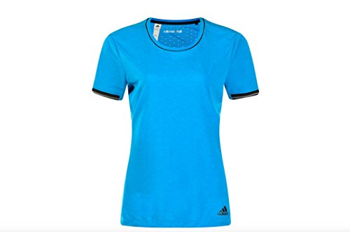 Womens adidas Clima Chill Tee, Chill Blue/Black, Small