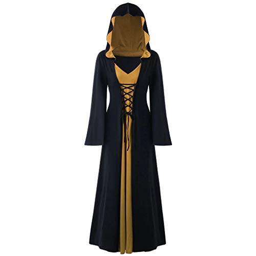 Deluxe French Kiss Sexy Costumes - LONGDAY Gothic Cosplay Dress Vintage Celtic