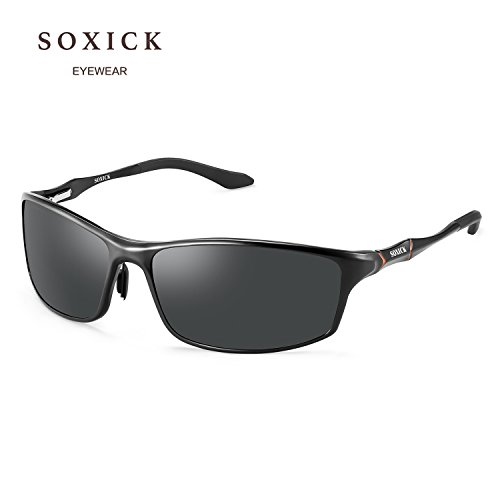 SOXICK Sport Polarized Sunglass For Men Sunglass UV Protection Durable Fashion Driving - Meaning Glasses Polarized