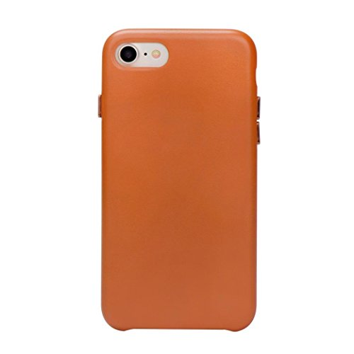 Coohole New Fashion Leather Slim Protective Case Cover Shell For iPhone 7 Plus 5.5 Inch (Brown, iPhone 7 Plus 5.5 Inch)