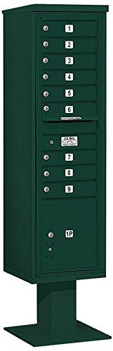 Salsbury Industries 3416s-09grn 4 C Pedestalメールボックス、グリーン B005HDZ19U