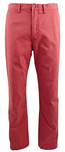 - RALPH LAUREN Polo Men's Classic Fit Cotton Chino Pants, Nantucket Red (36x30)