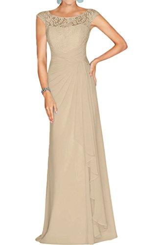 Partykleider Linie Brautmutterkleider mia U Chiffon Abendkleider Braut Weinrot Ausschnitt La Champagner A Spitze Abschlussballkleider HqS8Pq