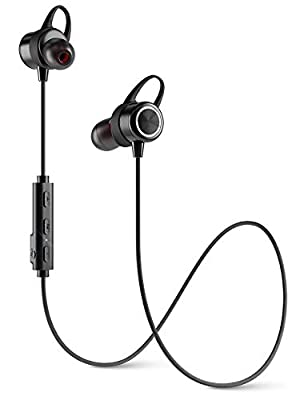Diginex Bluetooth Earbuds Wireless Magnetic Headset Sport Earphones for Running IPX7 Waterproof Headphones 9 Hours Playtime High Fidelity Stereo Sound and Noise Cancelling Mic 1 Hour Recharge