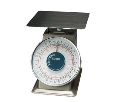 Taylor Precision THD32 HD S/S Oval 32 Oz. x 1/8 Oz. Portion Scale by Taylor Precision Products