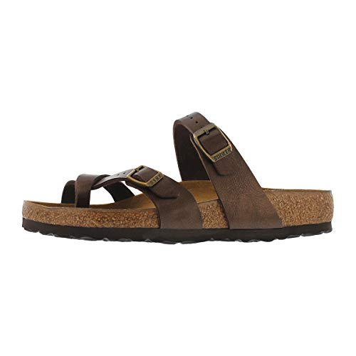 Birkenstock Women's Mayari Adjustable Toe Loop Cork Footbed Sandal Toffee 37 M EU