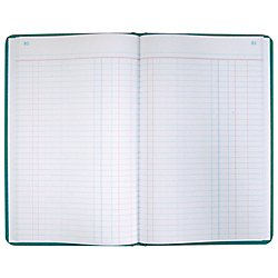 Boorum & Pease 66 Series Account Book, Journal Ruled, Green, 300 Pages, 12-1/8
