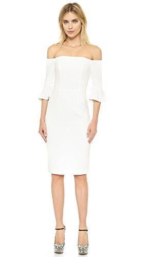 Buy black halo black and white dress - 6