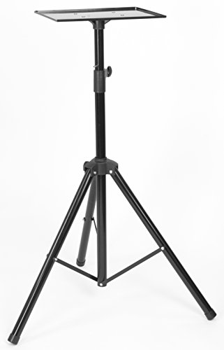 VIVO Black Height Adjustable Laptop Projector Tripod Floor Stand with 11