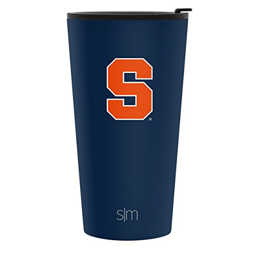 Simple Modern 16oz Pint Tumbler - Syracuse Orange Vacuum Insulated 18/8 Stainless Steel Tailgating Cup Travel Mug - Syracuse