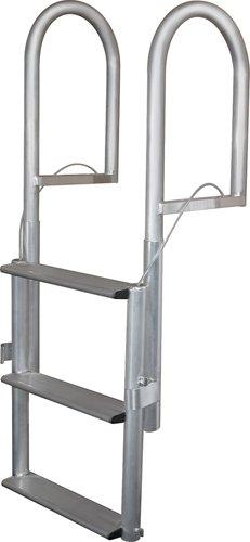 7 Step Retractable Dock Lift Ladder, Aluminum - Jif Marine