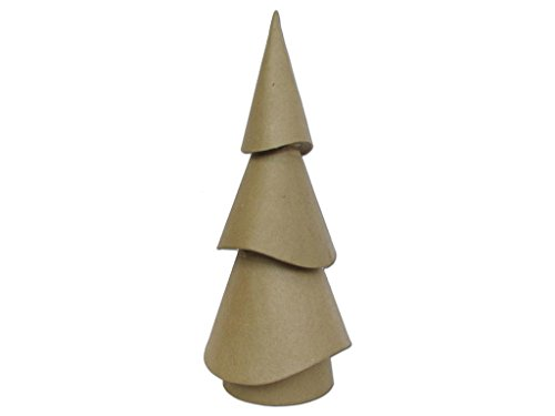 Craft Ped Paper Cplbv0255 Mache Tree Wavy Cone Small  14 5