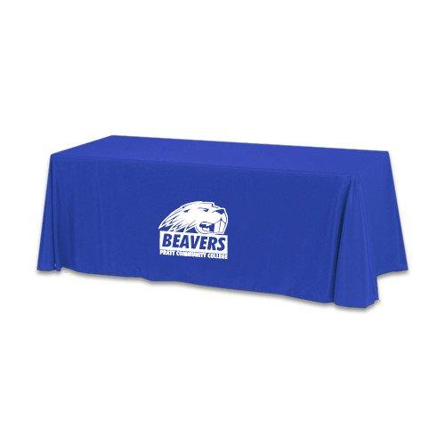 Pratt CC Royal 6 foot Table Throw 'Official Logo' by CollegeFanGear