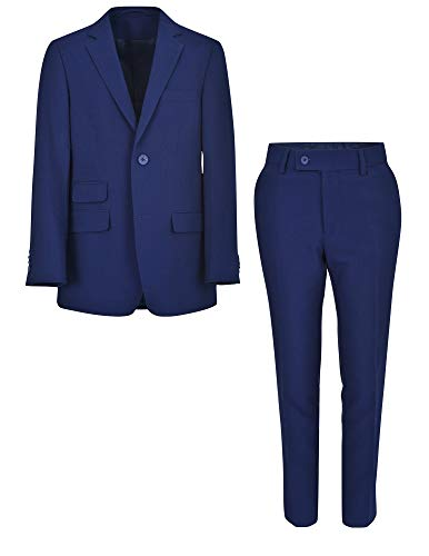 Ike Style Jacket - Ike Behar Boys 2 Piece Suit, Royal Blue with Pants and 2 Button Jacket, 20