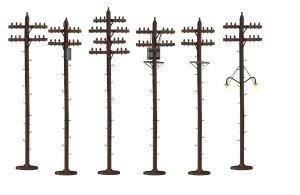 Lionel LNL637939 O Telephone Poles