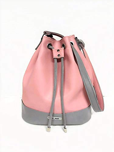 - Pink gray Shoulder strap Purse