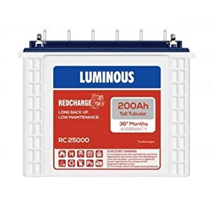 Luminous Tubular 200ah Battery – Red Charge RC25000 Tall Battery for Home, office