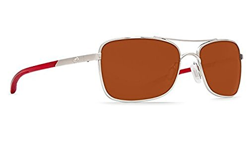Costa Palapa Sunglasses Palladium w/Red Temples / Copper Glass W580