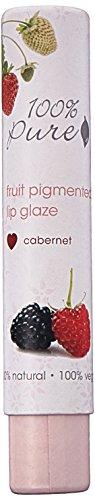 100% Pure Fruit Pigmented Lip Glaze, Cabernet, 0.088 oz