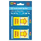* Spanish Page Flags in Pop-Up Dispenser, ''FIRME AQUI'', Red/Yellow, 100/PK