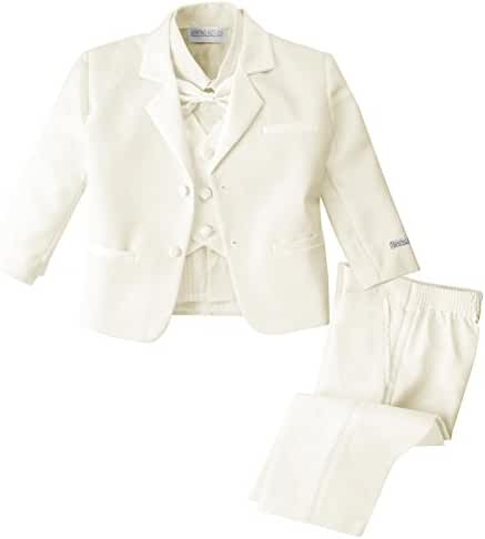 Spring Notion Baby Boys' Ivory Classic Fit Tuxedo Set, No Tail