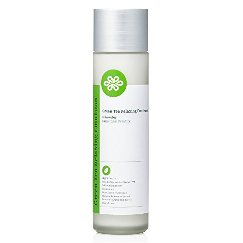 Relaxing Body Emulsion (LOVLUV Green Tea Relaxing Emulsion. Have Fresh and Bright Skin with Moisture and Nutrition on Your Sensitive Face. Improve Your Skin with Real Green Tea Lotion from Jeju in Korea. [150 ml / 5 Oz])