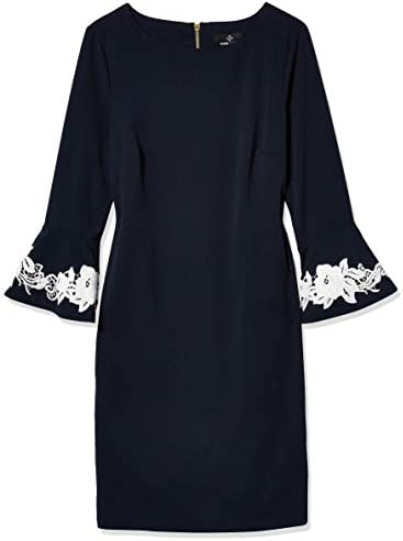 Ronni Nicole Damen Lace Trim Bell Sleeve Shift Kleid