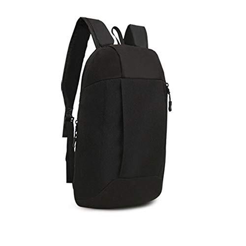 Unisex Sports Backpack Hiking Rucksack Men Women Schoolbags Satchel Bag Handbag (Black)